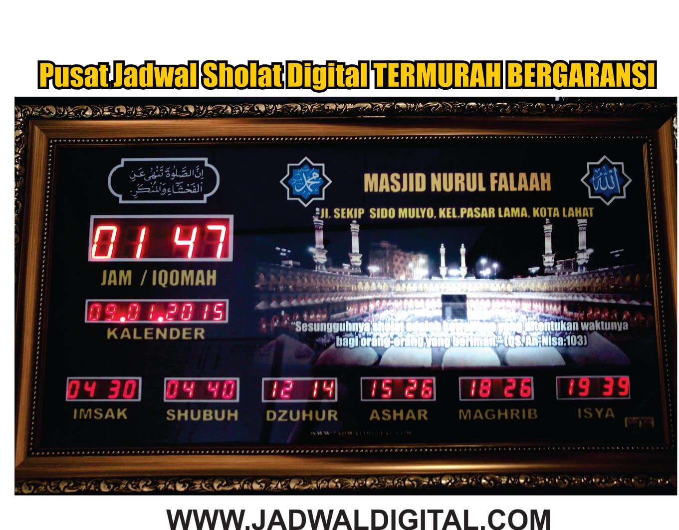 jam masjid di lahat sumsel