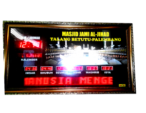 jam masjid palembang