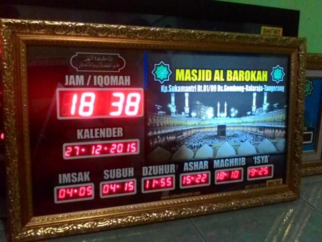 Jadwal waktu sholat di Tangerang