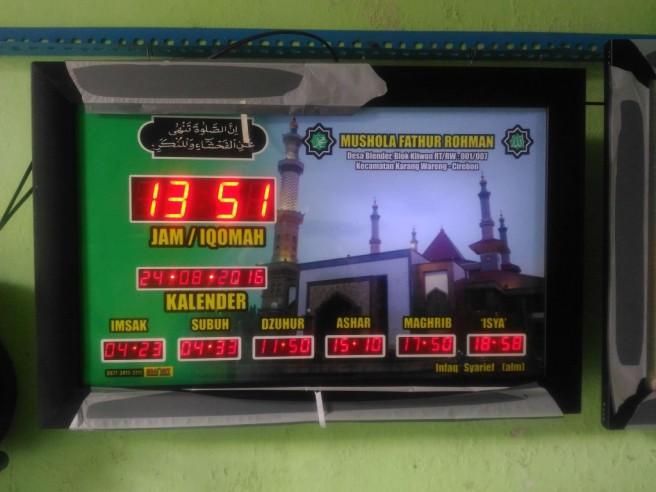 Jadwal waktu sholat di Cirebon