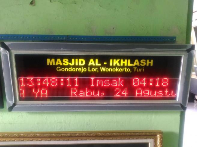 Jadwal waktu sholat di Turi Yogyakarta