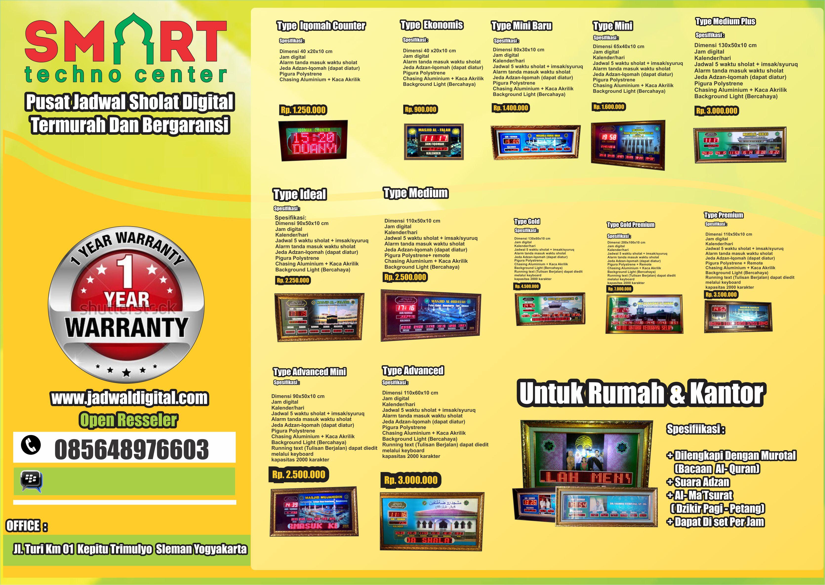 Harga Jadwal Sholat Digital Terbaru