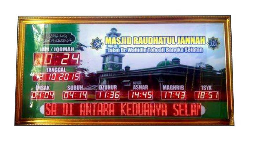 jam digital masjid bangka