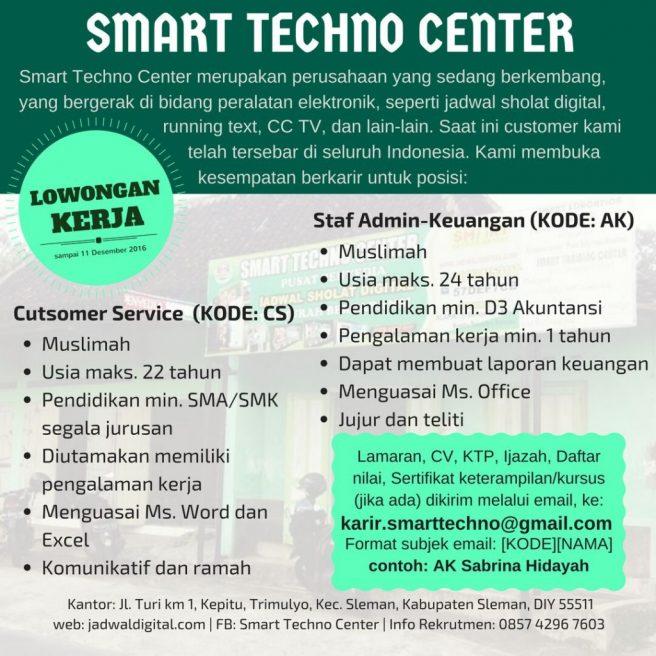 lowongan pekerjaan  Customer service dan staf Admin-Keuangan